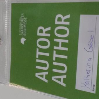 Autorin Frankfurter Buchmesse Badge